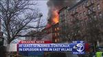 Nổ gas đánh sập nhà và cháy lớn tại New York