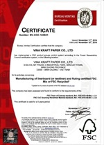 Vina Kraft nhận chứng chỉ của Hội đồng quản lý rừng FSC