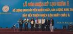 Yến sào Khánh Hòa đón nhận kỷ lục Châu Á