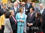 Chủ tịch nước Trương Tấn Sang tiếp đoàn Lãnh tụ phe thiểu số tại Hạ viện Hoa Kỳ