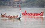 Không tổ chức thi bơi chải truyền thống trên sông Lô