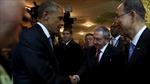 Cái bắt tay lịch sử của nguyên thủ Mỹ-Cuba