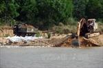 Phá chuyên án khai thác cát trái phép trên sông Hồng