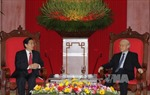 Tổng Bí thư  tiếp Đoàn cấp cao Bộ Công an Trung Quốc