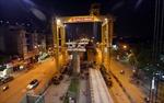 Đêm trên công trường đường sắt Cát Linh - Hà Đông