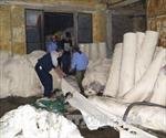 Cháy lớn tại Công ty dệt nhuộm Thăng Long