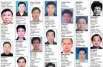 Ảnh truy nã 100 quan tham tràn 2 trang Nhân Dân nhật báo