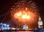Pháo hoa rực rỡ trời đêm Moskva