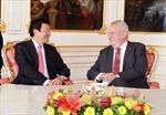 Chủ tịch nước Trương Tấn Sang hội đàm với Tổng thống Séc