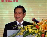 Trao Huy hiệu 50 năm tuổi Đảng cho nguyên Chủ tịch nước Nguyễn Minh Triết