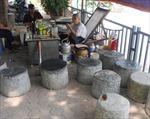 Độc đáo quán trà 'cối đá' giữa Thủ đô