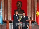 Chủ tịch nước tiếp Tổng Thư ký Liên hợp quốc Ban Ki-moon
