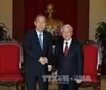 Tổng Bí thư Nguyễn Phú Trọng tiếp Tổng Thư ký Ban Ki-moon
