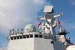 Nhiều tàu chiến hiện đại quy tụ tại căn cứ Hải quân Singapore