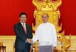 Phó Thủ tướng Phạm Bình Minh chào xã giao Tổng thống Myanmar