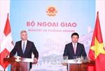 Phó Thủ tướng Phạm Bình Minh hội đàm với Ngoại trưởng Thụy Sỹ