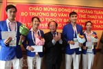 Bộ trưởng Hoàng Tuấn Anh động viên các VĐV dự SEA Games 28