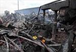 Hiện trường tan hoang sau vụ cháy trong KCN Hoàng Gia