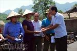 Hà Giang hỗ trợ các gia đình thiệt hại do hỏa hoạn