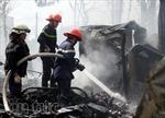 Giải cứu vợ chồng cụ ông 90 tuổi trong căn nhà bốc cháy