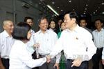 Chủ tịch nước Trương Tấn Sang tiếp xúc cử tri TPHCM