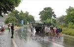 Xe tải đâm xe máy, 3 người trong gia đình thương vong
