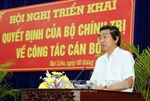 Triển khai Quyết định của Bộ Chính trị về công tác cán bộ của Ban Nội chính Trung ương