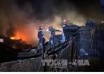 Cháy lớn công ty xây dựng ở Thanh Hóa, thiệt hại hàng tỷ đồng