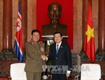 Chủ tịch nước tiếp Bộ trưởng Các lực lượng vũ trang Triều Tiên
