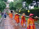 Tái hiện lễ dựng cây nêu ngày Tết tại Đại nội Huế