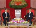 Tổng Bí thư Nguyễn Phú Trọng tiếp Bí thư Khu ủy Quảng Tây