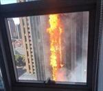 Cao ốc 32 tầng Trung Quốc bốc cháy ngùn ngụt