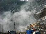 Nổ mìn khai thác đá, bốn người bị thương