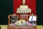 BCĐ Tây Nam bộ làm việc với đoàn Bộ Tư lệnh Cảnh vệ Campuchia