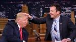 Bị vò đầu trên truyền hình, tóc quý của ông Trump xù bông