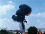 Trung Quốc: Máy bay ném bom lao xuống đất cháy ngùn ngụt