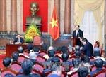 Chủ tịch nước gặp mặt đại biểu doanh nghiệp nhỏ và vừa Việt Nam