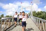Bàn giao cầu thép dây văng qua kênh Điền Cô Ba