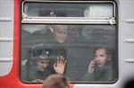 Thanh niên Nga háo hức lên đường nhập ngũ trong mùa lạnh