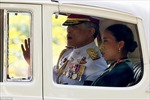 Hình ảnh Hoàng Thái tử Thái Lan đăng quang ngôi Vua
