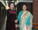 Chủ tịch Quốc hội Nguyễn Thị Kim Ngân hội đàm với Chủ tịch Hạ viện Ấn Độ