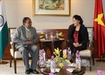 Chủ tịch Quốc hội tiếp Tổng Bí thư Đảng Cộng sản Ấn Độ