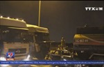 Cầu Phú Mỹ kẹt cứng do tông xe liên hoàn