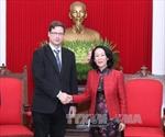 Trưởng Ban Dân vận Trung ương Trương Thị Mai tiếp Phó Chủ tịch Quốc hội Hunggari