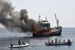 Indonesia tiếp tục đánh đắm tàu nước ngoài đánh bắt cá trái phép