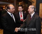 Thủ tướng Nguyễn Xuân Phúc gặp gỡ báo chí quốc tế tại Davos