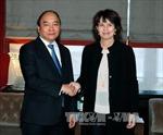 Thủ tướng dự phiên thảo luận, tiếp xúc cấp cao tại Hội nghị WEF