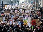 Biểu tình phản đối tân Tổng thống Mỹ tại nhiều thành phố của Anh