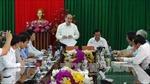 Chủ tịch Mặt trận Tổ quốc làm việc tại tỉnh Trà Vinh