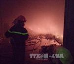Cháy lớn tại Khu công nghiệp Tây Bắc Ga, Thanh Hóa